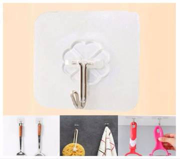 4pcs Suction Cup Hook Hanger Strong Vacuum Holder For Wall Door