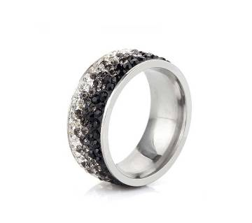 Clear Rhinestone Stainless Steel Rings For Women