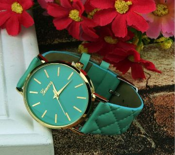 Leather Casual  Quartz  Watch For Women