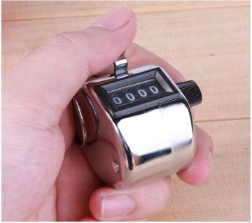 Mini Mechanical 4 Digit Number Hand Held Tally Counter