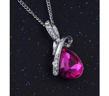 Crystal Water Drop Pendants Necklace