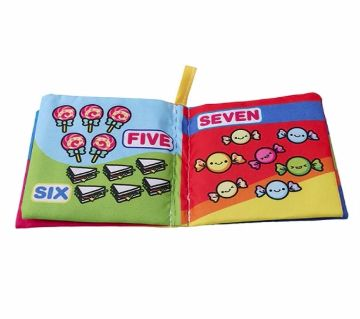 1Pcs Soft Cloth 1-10 number Book  Early Learning Educational Baby Toys