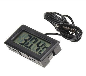Mini Digital LCD Display Indoor Portable Temperature Aquarium Freezer Sensor With Probe Indoor DC 1.5V Meter