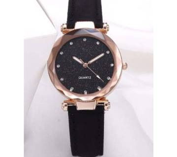 Casual Quartz  Leather Rhinestone Watch  For Women