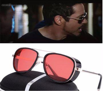 Tony Stark Red Classic Steampunk Sunglasses For Men