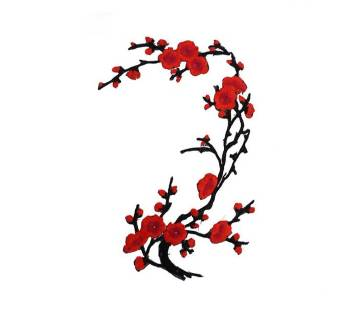 Plum Blossom Flower Applique Clothing Embroidery Patch Fabric Sticker
