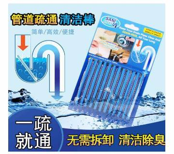 12Pcs Dredging Pipe Decontamination Rod Household Cleaning Sewer Bathtub Drain Sink Cleaner Sewer