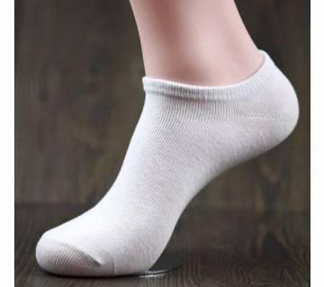 1 pair Men Solid Color Casual Cotton Socks