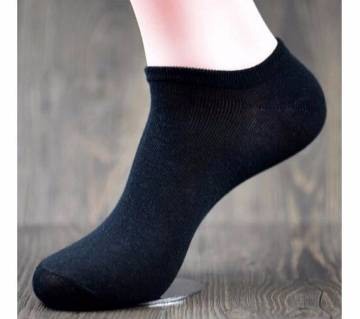 1 pair Men Solid Color Casual Cotton Socks