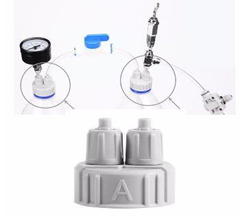 1PC Aquarium CO2 System Pro Tube Valve Guage Bottle Cap Kit  Air Diffuser Generator Tool