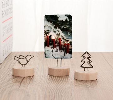 1 pcs Metal Words Wood Memo  Message Clips Photo Holder Clamps