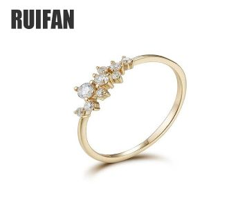 Cubic Zirconia  925 Sterling Silver Cute Thin Ring for Women