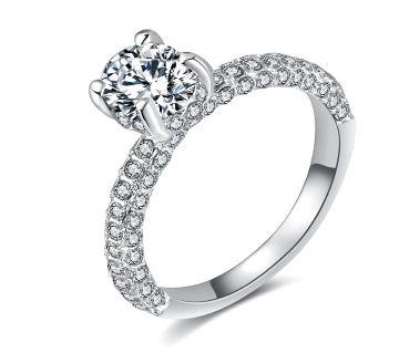 Full Round Zircon Cute Finger Ring Fow Women