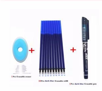 Red Erasable Novelty Ballpoint Pen+ 30Pcs Refill +Eraser
