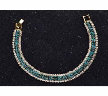 Sparkling Blue Cubic Zirconia Bracelet For Women