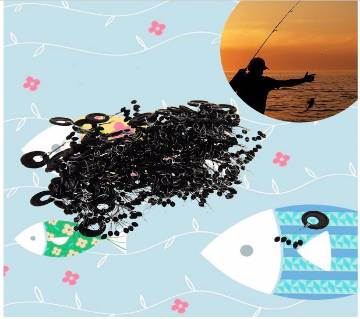 10pcs/Set Fishing Rubber Float Bobber Stops Pitch Sinker
