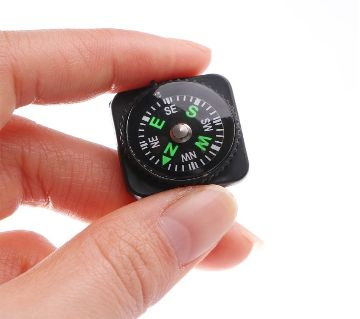 Portable Belt Buckle Mini  Compass for Outdoor Camping Hiking Travel Emergency Survival Navigation Tool