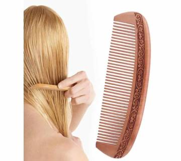 Natural Wide Peach Wood No-static Massage Hair Comb