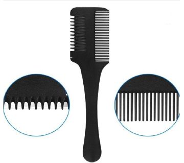 Black Handle Cutting Thinning Inside Blades Hair Comb