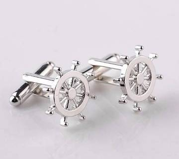 Unique Design Silver Plated Cufflinks