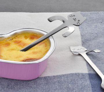 Cartoon Cat  Shaped   Stainless Steel Spoons Flatware Hanging Spoon