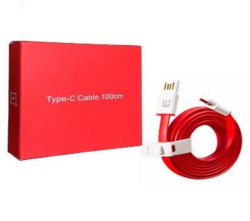 Oneplus Cable Type C Dash 100cm Red Color for OnePlus Phones and Other