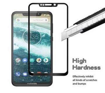 Motorola Moto One Tempered Glass Protector 6D 9H Black