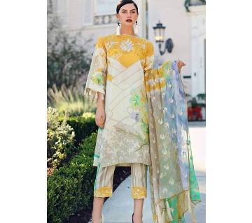 Charizma Unstitched Summer Lawn Three Piece