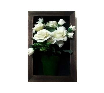 Artificial wooden wall hanging frame