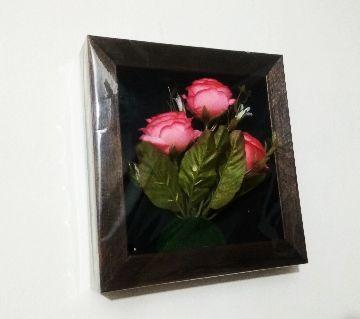 3D wooden flower frame