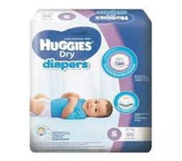 Huggies Belt Style Dry Diaper Small (4 - 8 Kg) - 60 Pcs (Malaysia)
