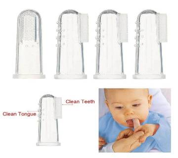 4Pcs Baby Kids Safety Silicone Finger Toothbrush Teeth Care Cleaner