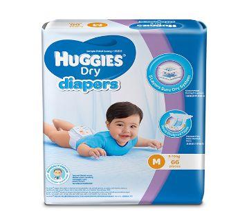 Huggies Belt Style Dry Diaper - M (5-10Kg) - 72 Pcs Malaysia