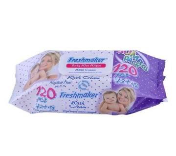 Freshmaker Fliptop Wipe - 120 Pcs (India)