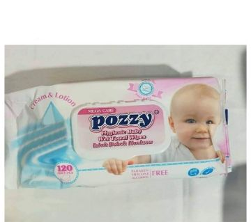 Baby Wet Towel Wipes (Flip Cap) -120Pcs