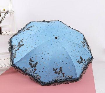 Transparent auto-folded umbrella