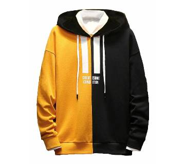 Mens Winter Hoodie  yellow and black