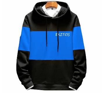 3-part-Blue color Mens Winter Hoodie