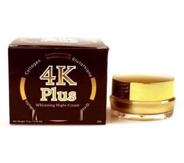 $4K Plus Whitening Night Cream-15gm-Thialand