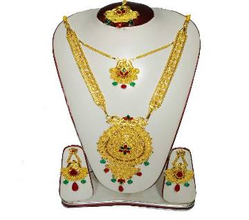 Golden and red Gold Plated Jewellery Set for Women