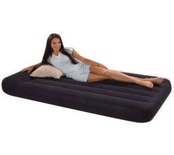 Single air bed with air pump