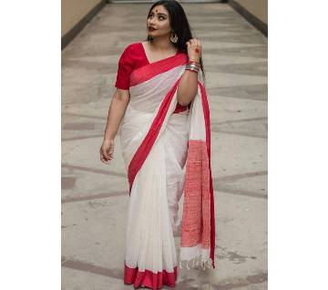 Deepsy Maria B-3 Georgette Off White with red