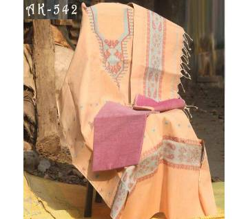 Deshi Taant made jamdani unstitched salwar kameez for women