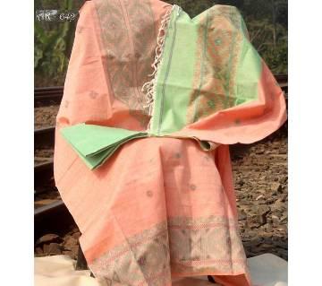 Unstitched Mercerized Cotton Jamdani  Salwar Kameez for women