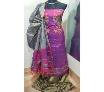 Half Silk Jamdani Salwar Kameez for women