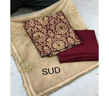 Unstitched Banarasi Brocade Suit