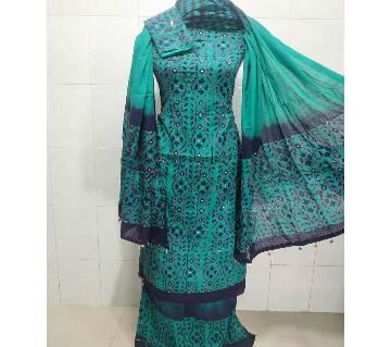 Unstitched Batik Cotton batic Salwar Kameez For Women-paste