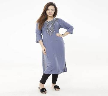 Embroidered Georgette One piece/ Kurti