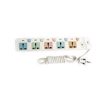 5 Port Multiplug - White