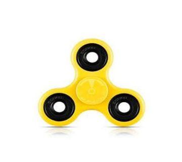 Premium Tri Fidget Spinner Stress Reducer - yellow